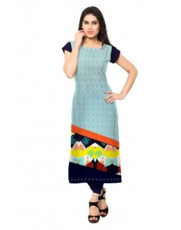 Casual Wear Readymade Multicolour Crepe Kurti - 154