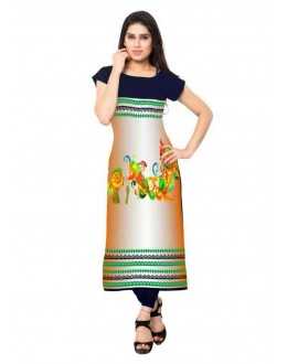 Festival Wear Readymade Multicolour Crepe Kurti - 149