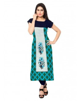Office Wear Readymade Multicolour Crepe Kurti - 137