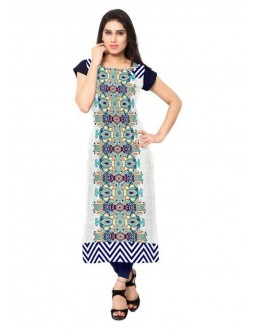 Festival Wear Readymade Multicolour Crepe Kurti - 136