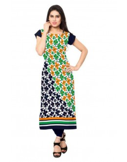 Ethnic Wear Readymade Multicolour Crepe Kurti - 145
