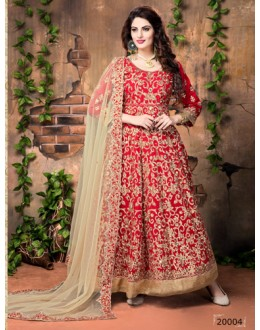Red Banglori Silk Anarkali Suit  - 20004
