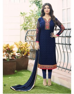 Ayesha Takia In Blue Georgette Salwar Suit  - 201