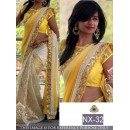 Bollywood Replica - Wedding Wear Yellow & Cream Saree - NX-32