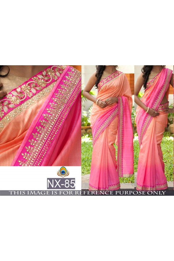Bollywood Replica- Ethnic Wear Shaded Multi-Colour Saree - NX-85