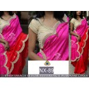 Bollywood Replica - Ethnic Wear Pink & Red Saree - NX-89
