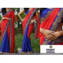 Bollywood Replica - Ethnic Wear Red & Blue Saree - NX-95