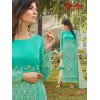 Office Wear Green & Beige Georgette Churidar Suit - 1017