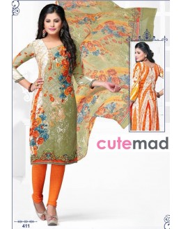 Casual Wear Multi-Colour Cotton Salwar Suit  - 411