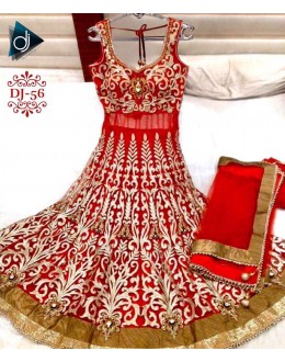 Bollywood Replica - Traditional Red Anarkali Suit - DJ-56-1