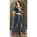 Traditional Blue Banglori Silk Anarkali Suit - 1501-B