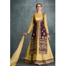 Party Wear Purple Banglori Silk Lehenga Suit - 1606