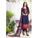 Ethnic Wear Blue & Red Georgette Salwar Suit - 405