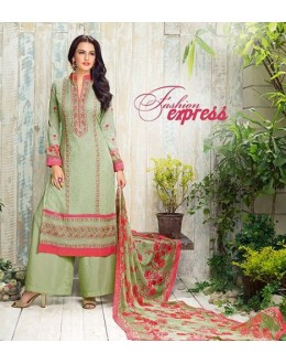 Ethnic Wear Green Georgette Palazzo Suit - 413