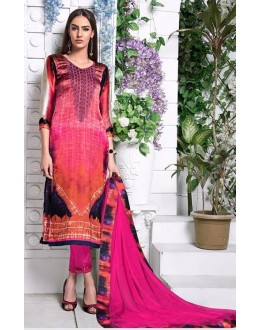 Ethnic Wear Multi-Colour Utra Japan Satin Salwar Suit  - 904