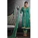 Party Wear Green Brasso Salwar Suit - 3062