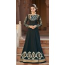Ethnic Wear Black Georgette Embroidered Anarkali Suit  - 1301