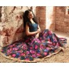 Traditional Multicolour Banarasi Silk Anarkali Suit - 3408