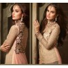 Ethnic Wear Beige & Pink Net Salwar Suit - 3501