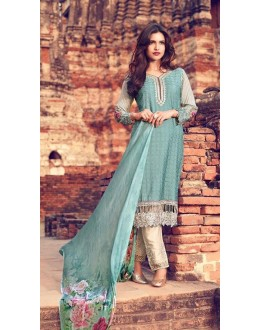 Party Wear Grey Premium Cotton Satin Salwar Suit - 302