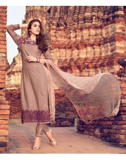 Traditional Wear Multi Colour Premium Cotton Satin Salwar Suit - 309