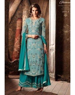 Georgette Ethnic Wear Palazzo Suit - 34005-B