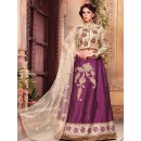 Ethnic Wear Purple & Beige Fancy Lehenga Choli - 1158