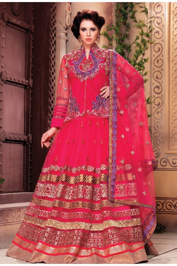 Festival Wear Pink Fancy Lehenga Choli - 1159