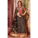 Navratri Special Black & Red Fancy Lehenga Choli - 1151