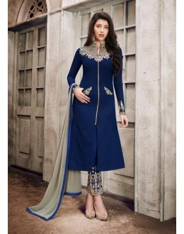Festival Wear Blue Georgette Salwar Suit  - 1028A
