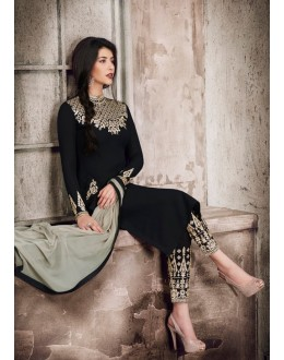 Party Wear Black Georgette Salwar Suit  - 1028B