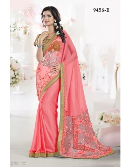 Ethnic Wear Gajri Chiffon Saree - 9456-E
