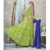 Designer Bridal Green Heavy Embroidered China Crepe Anarkali Suit - 24003 ( OFB-573 )