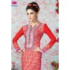 Designer Red Printed French Crepe Churidar Salwar Kameez - 3202 ( OFB-611-Swagat )