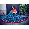 Designer Blue Embroidered Banglori Silk Lehenga Choli - 10005 ( OFB-636 )