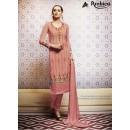 Amba Georgette Embroidered Peach Salwar Kameez - 7205 ( 664 )