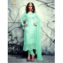 Party Wear Georgette Sea Green Salwar Kameez - 4003-D