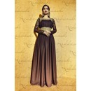 Nakashi 3030 Moss Brown Anarkali Suit - 3031