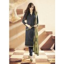 Party Wear Georgette Black Churidar Salwar Kameez - 7310