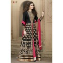 Gulzar Banglori Silk Black Anarkali Suit - 1507