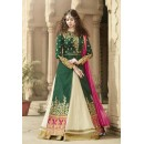 Gulzar Banglori Silk Green Anarkali Suit - 1502