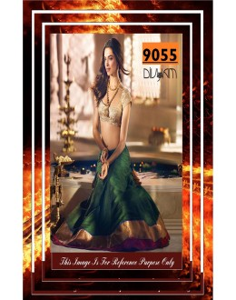 Bollywood Replica - Deepika Padukone In Designer Green Lehenga Choli - 9055