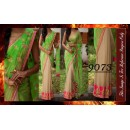 Bollywood Replica - Designer Green & Beige Party Wear Saree - 9073