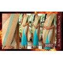 Bollywood Replica - Wedding Wear Beige & Firozi Saree - 9087
