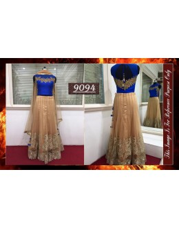 Bollywood Replica - Designer Beige Net Lehenga Choli - 9094