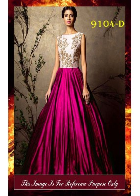Bollywood Replica - Party Wear Pink & White Gown  - 9104-D