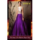Bollywood Replica - Party Wear Purple & White Gown  - 9104-A