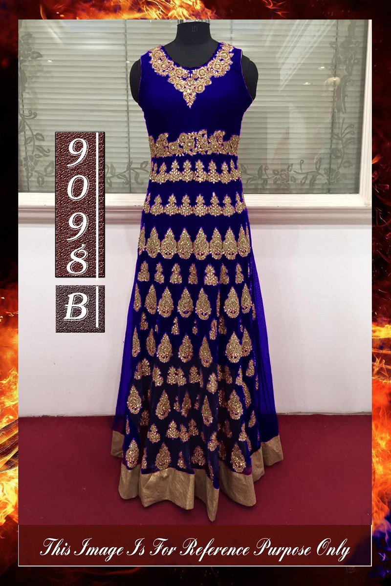 Bollywood Replica - Wedding Wear Navy Blue Anarkali Suit - 9098-A