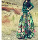 Bollywood Replica -  Party Wear Green Printed Lehenga Choli  - VT-1130-A