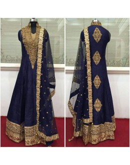 Bollywood Inspired - Wedding Wear Navy Blue Anarkali Suit - 9028NB